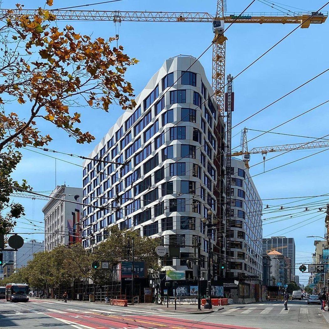 圖說:大陸建設首次跨足美國,搶佔舊金山Market Street與Turk St...