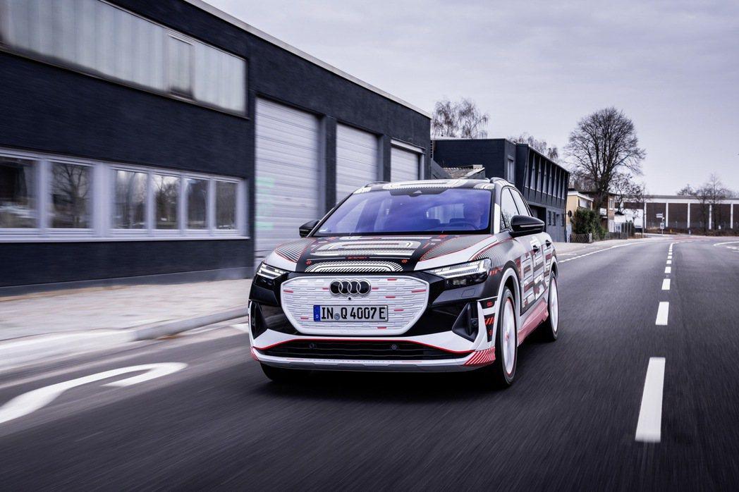 Audi Q4 e-tron偽裝車。 摘自Audi