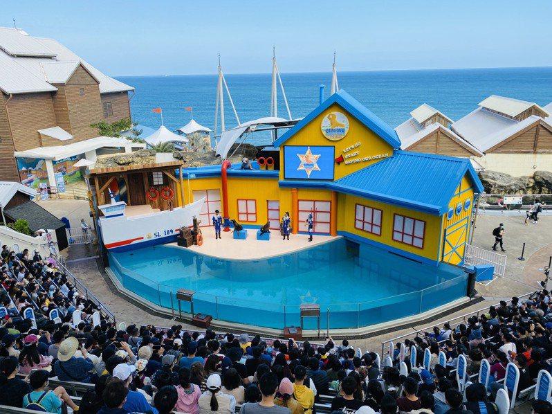 海獅巡警隊的表演節目大受歡迎。圖/花蓮遠雄海洋公園提供