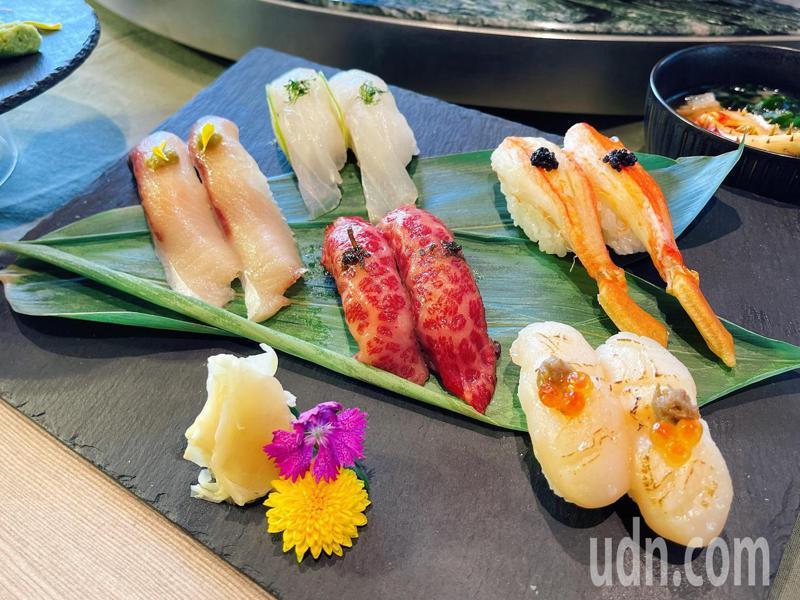 日式頂級Buffet「旭集」,打造出九大日式料理亭,可盡情享用各種日本美食。記者王昭月/攝影