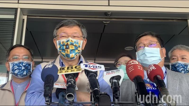 柯文哲回應台北市9家指定醫院下周AZ疫苗開打,稱「早就有準備了」。記者巫鴻瑋/攝影