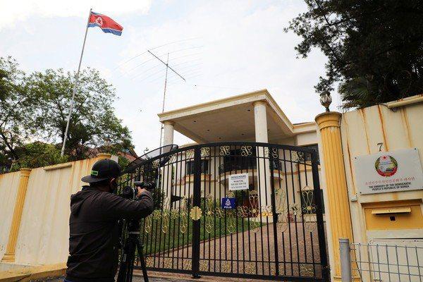 圖為北韓駐馬來西亞大使館。(圖/路透)