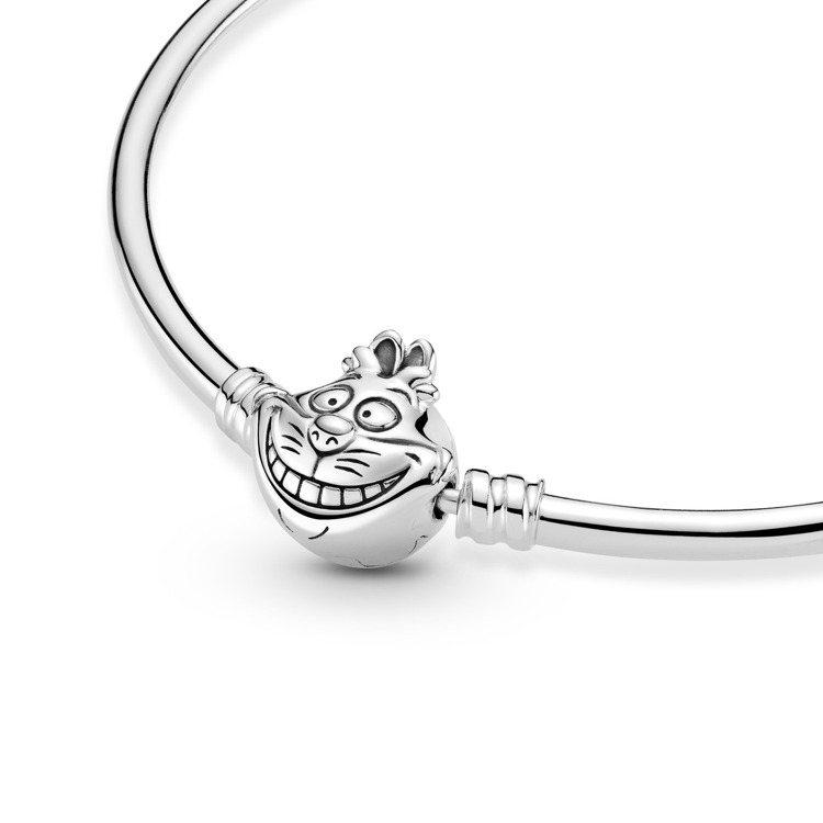Disney x Pandora「愛麗絲夢遊仙境」妙妙貓釦頭925銀手環,3,2...