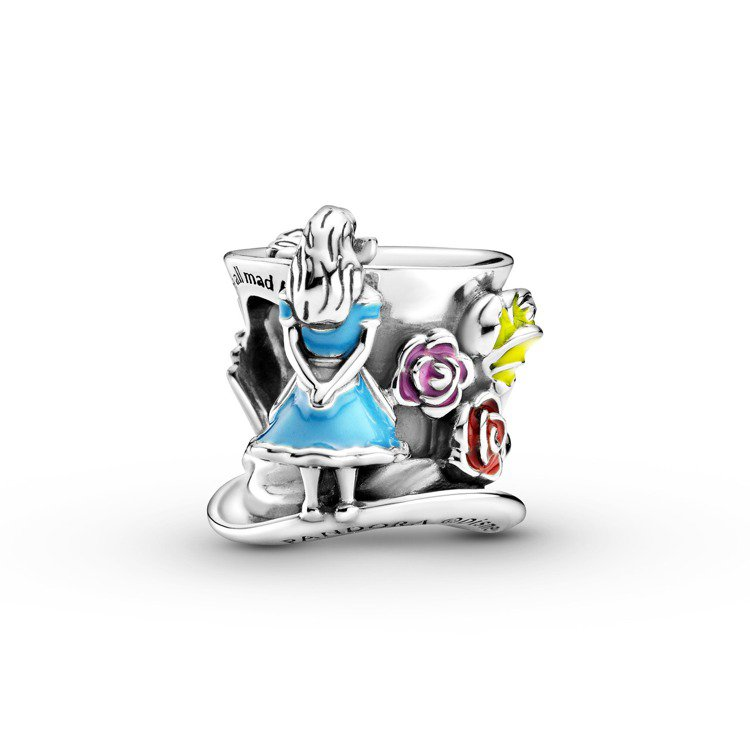 Disney x Pandora「愛麗絲夢遊仙境」瘋帽子茶會串飾,2,480元。...