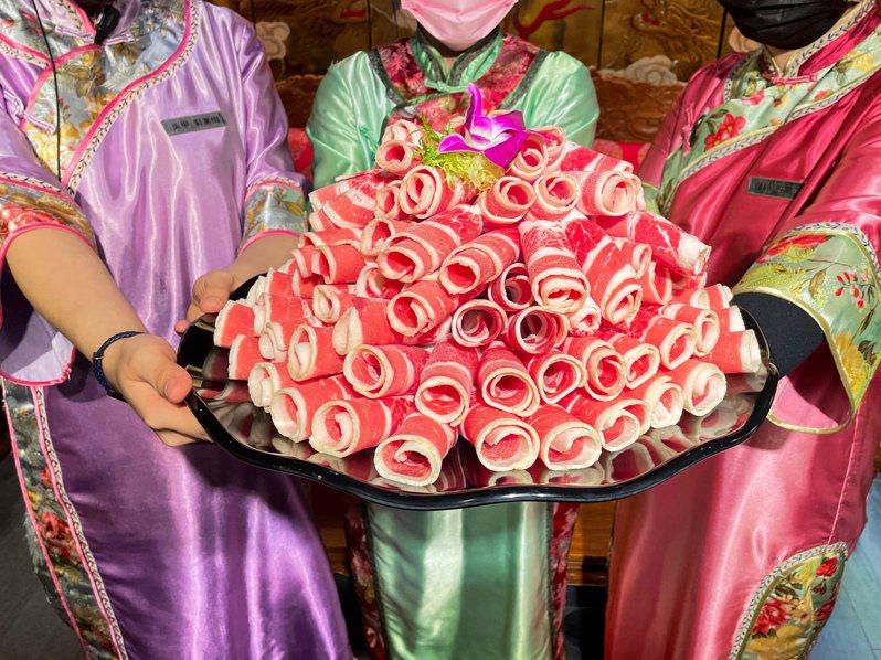 問鼎現推出有女性專屬活動,年齡幾歲,就送多少公克的肉品。圖/問鼎提供
