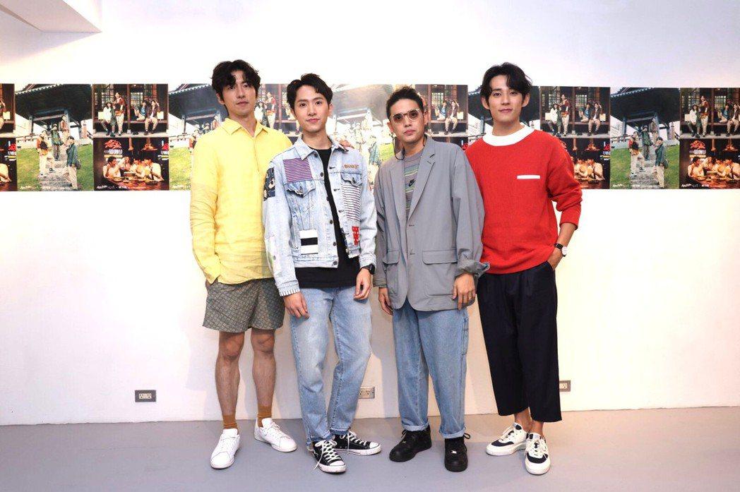 傅孟柏(左起)、楊孟霖、歐陽倫、徐鈞浩出席「Action Together」見面
