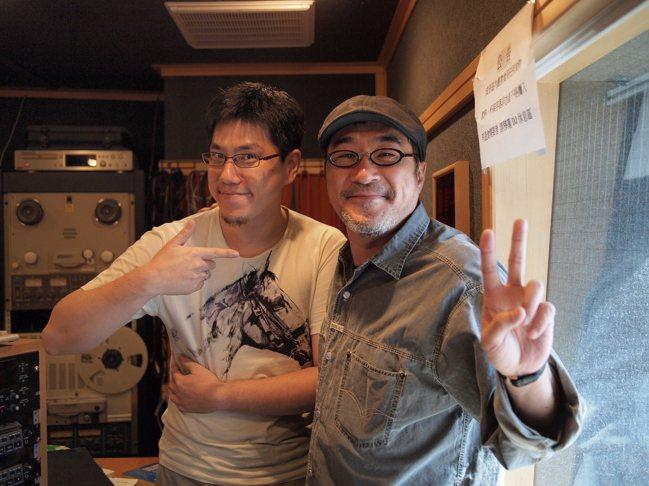 馬世芳在News98主持「音樂五四三」期間訪問了大量音樂人,右為李宗盛。圖/馬世...