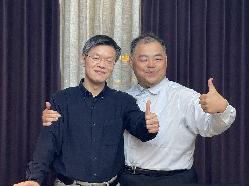 全新董事長陳建良(右)與總經理黃朝興。記者陳昱翔/攝影