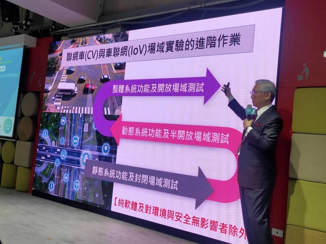 華電聯網吳榮煌董事長執行特助分享台灣智慧交通發展趨勢。卓家弘/攝影