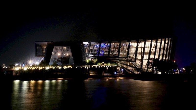 夜晚的南故宮「博物館」主體(二)