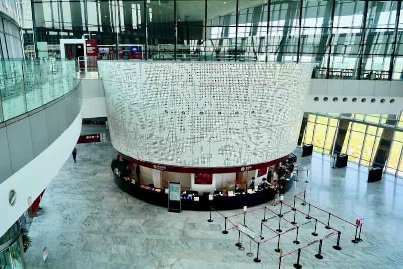館內入口的售票處以及服務中心,挑高超過17米的導覽大廳,明亮的空間。