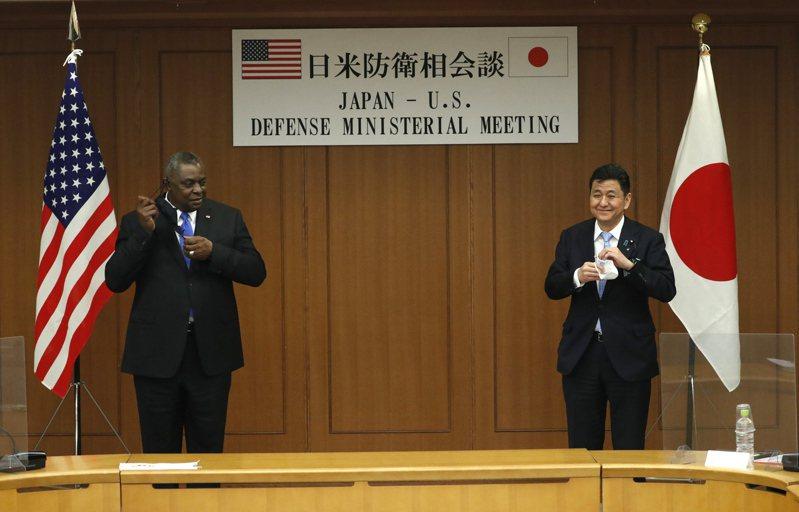 日本防衛大臣岸信夫與美國國防部長奧斯汀(Lloyd Austin)日前舉行會談。歐新社