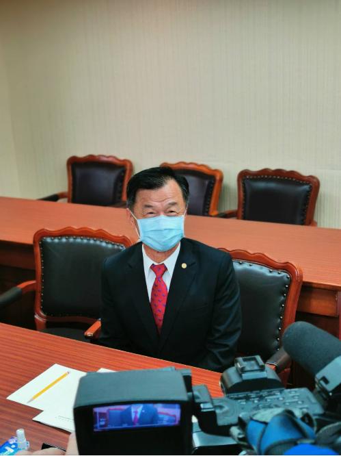 陸委會主委邱太三。記者賴錦宏/攝影