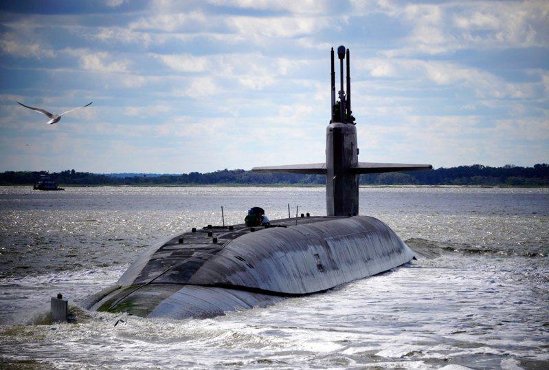 美軍俄亥俄級潛艦阿拉斯加號。路透