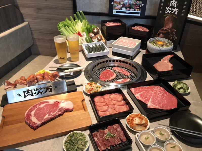 王品新品牌「肉次方」搶攻燒肉吃到飽市場。(記者嚴雅芳/攝影)