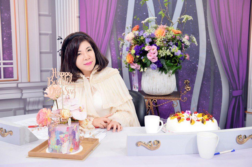 陳文茜將於25日迎來63歲生日。圖/TVBS提供