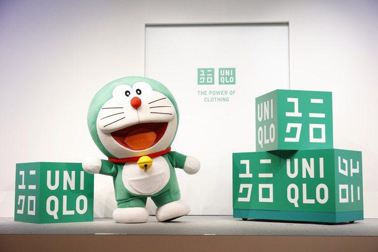 綠色版哆啦A夢出任UNIQLO永續大使。圖/UNIQLO提供