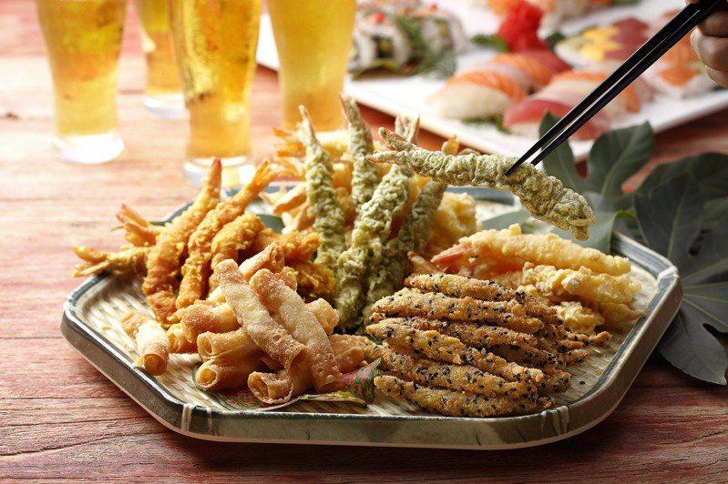 欣葉推出「海老炸蝦祭」特別活動,打造海舞紫衣炸蝦、可喜可樂炸蝦等5款特色炸蝦。圖/欣葉提供