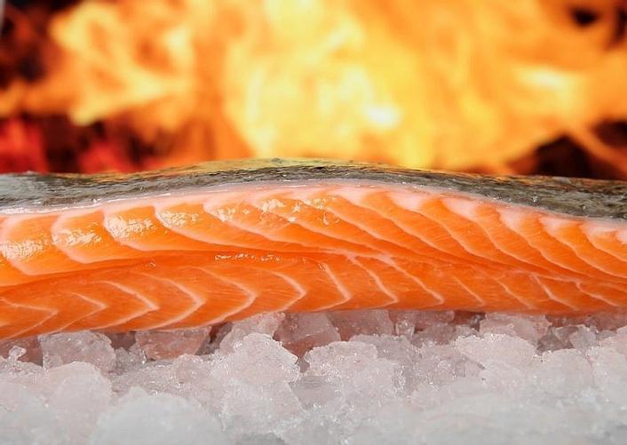 鮭魚會帶有橘紅色的原因其實和它的飲食內容有關。 圖/pixabay