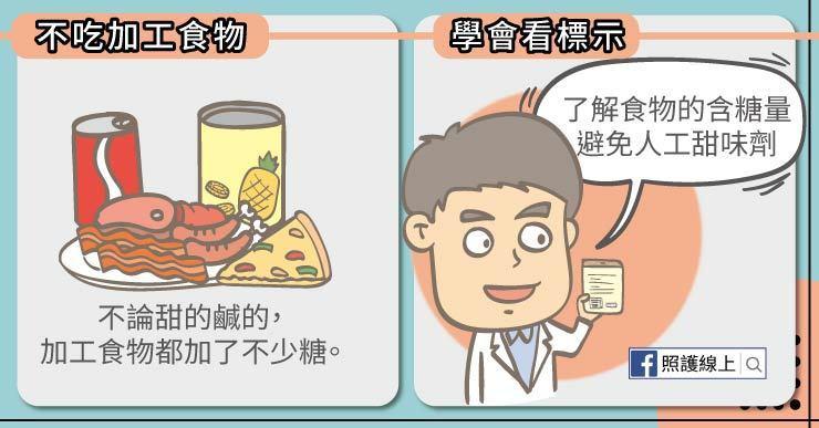 不管口味是甜的還是鹹的,加工食物總是不可避免的加了不少糖 圖/照護線上