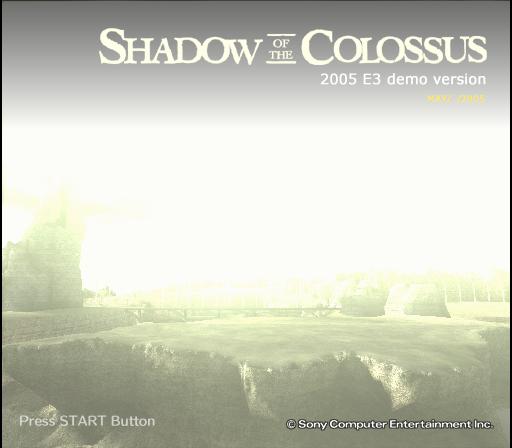 汪達與巨像,2005 E3 Demo