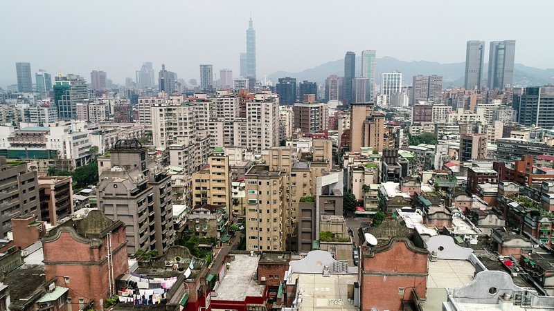 台北市屋齡40年以上的老宅比重達40.2%,12大行政區中又以大安區的老宅數量4.3萬戶居冠,也是危老案最多的區域。 聯合報系資料照/記者王騰毅攝影