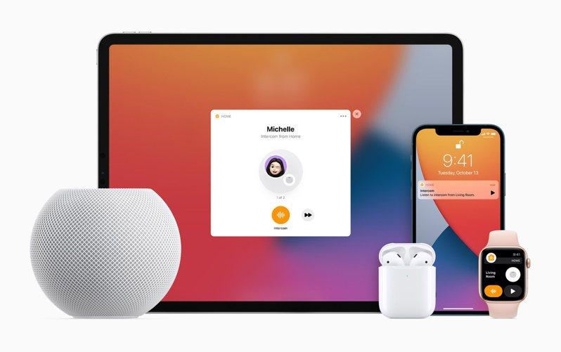 蘋果的HomePod mini(圖左)被發現藏有測量溫度和濕度的感應器,但目前尚無對應功能。  歐新社