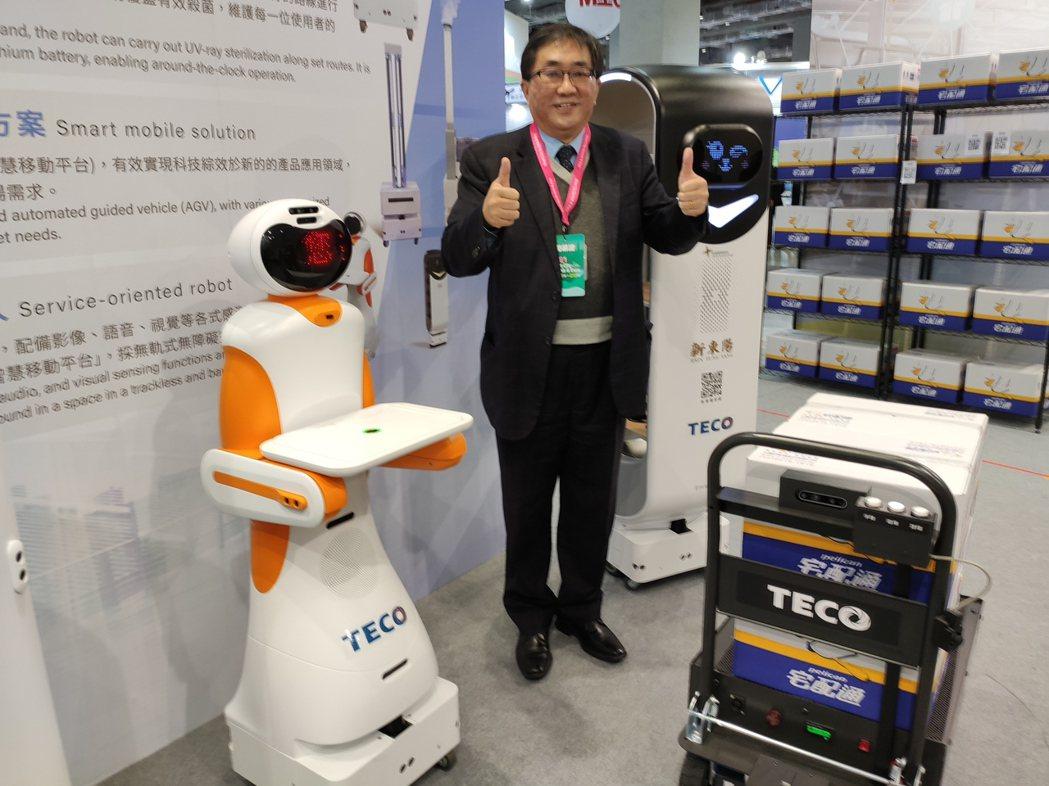 東元推AI和物聯網技術, 優化防疫、物流運輸與電能管理。 記者張義宮/攝影