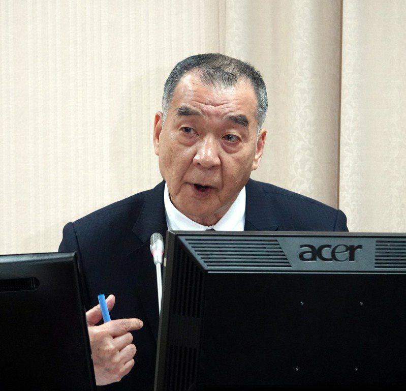 國防部長邱國正過去擔任軍職時,就以治軍嚴厲、罵人毫不客氣著稱。圖/聯合報系資料照片