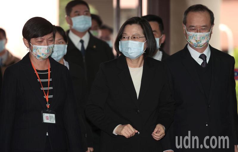 總統蔡英文首度參與國民法官模擬法庭。記者蘇健忠/攝影