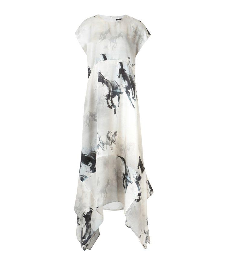 AllSaints Gianna印花短袖長洋裝13,800元。圖/AllSain...