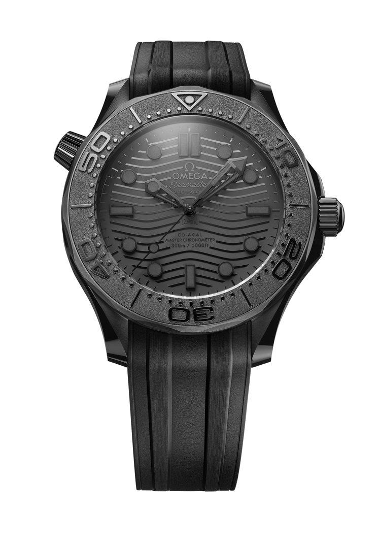 OMEGA海馬Diver 300米「黑黑(Black Black)」腕表,28萬...