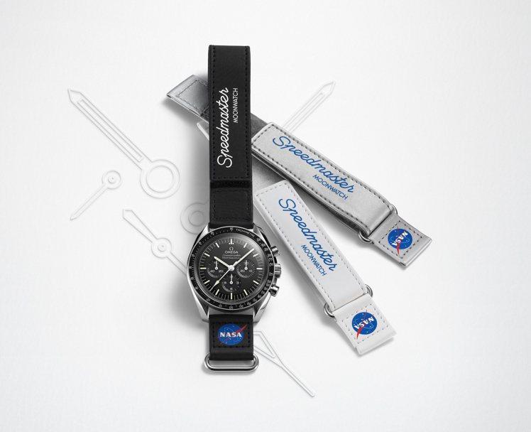 歐米茄(OMEGA)今年推出了全新登月表Verlcro表帶,具有黑、白、銀三種顏...