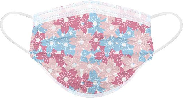 POYA寶雅開賣「春天花會開」醫用口罩,圖為「和風之櫻」款,一盒25入售價288...