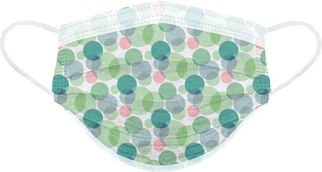 POYA寶雅開賣「春天花會開」醫用口罩,圖為「綠映點點」款,一盒25入售價288...