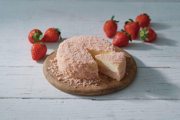 LETAO草苺牛奶雙層乳酪蛋糕,售價750元。圖/SOGO提供