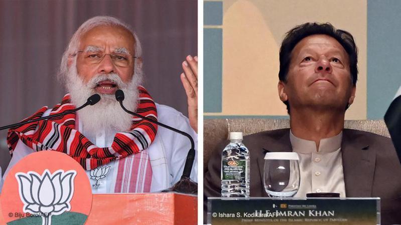 據多家媒體周二(3月23日)報道,印度總理莫迪致信巴基斯坦總理伊姆蘭.汗表示,他希望改善印度與巴基斯坦的關係。圖/德國之聲中文網