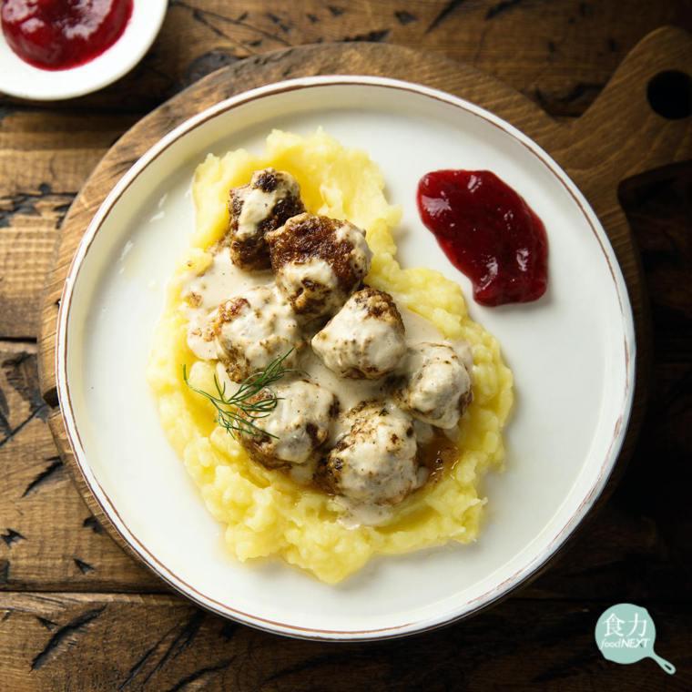 瑞典肉丸與越橘果醬密不可分。 圖片提供/食力