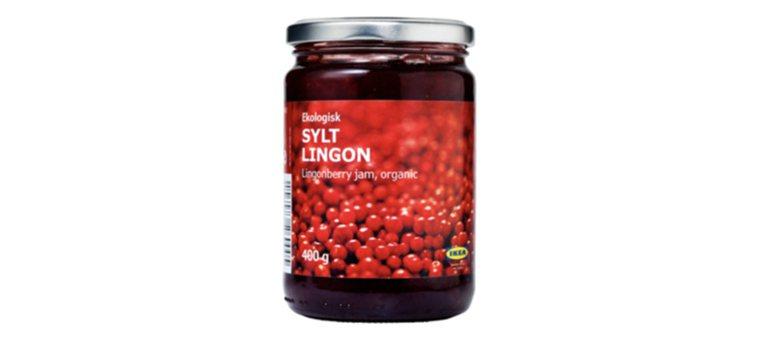 IKEA販售的越橘果醬(SYLT LINGON),使用生長在北半球原始森林的越橘...