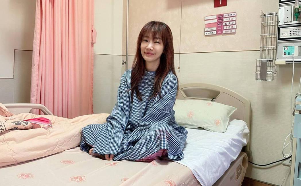 蕭彤雯手術前曾哭過兩次。 圖/擷自蕭彤雯臉書