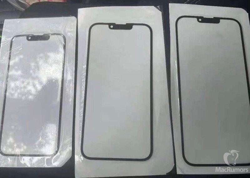 希臘維修服務商iRepair提供了一張據稱是iPhone 13機型的正面玻璃面板照片。 圖擷自MacRumors
