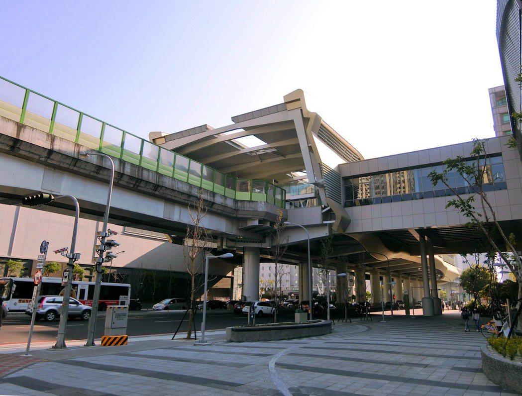 中捷運線的市政府站,新成屋與中古屋價差懸殊。(圖/台灣房屋提供)