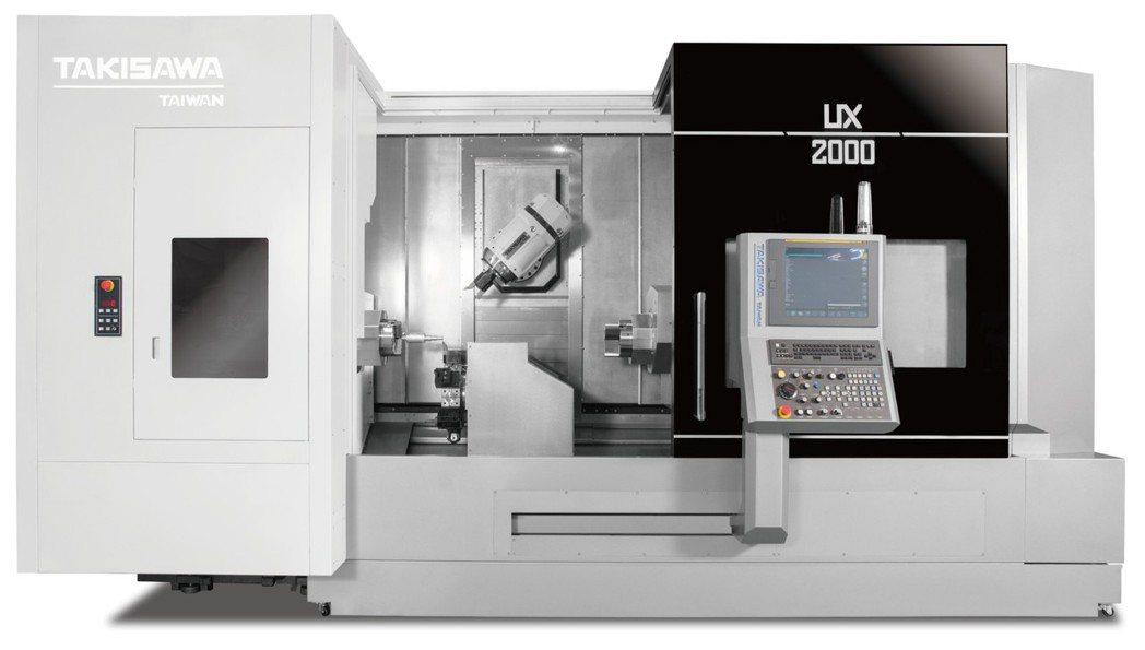 瀧澤科發表UX-2000新世代五軸車銑複合機。 瀧澤科/提供
