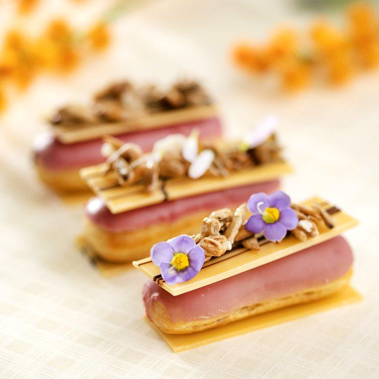 香格里拉台北遠東馬可波羅酒廊「花現.香格里拉」午茶派對,以「花」入甜點,圖為榛果...