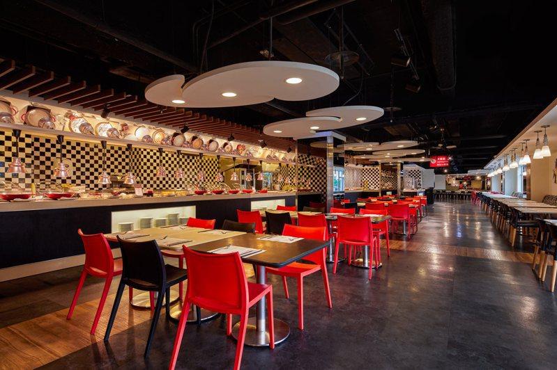 台北凱撒Checkers餐廳主打「今年我最牛」,各餐期通通5折。圖/台北凱撒提供