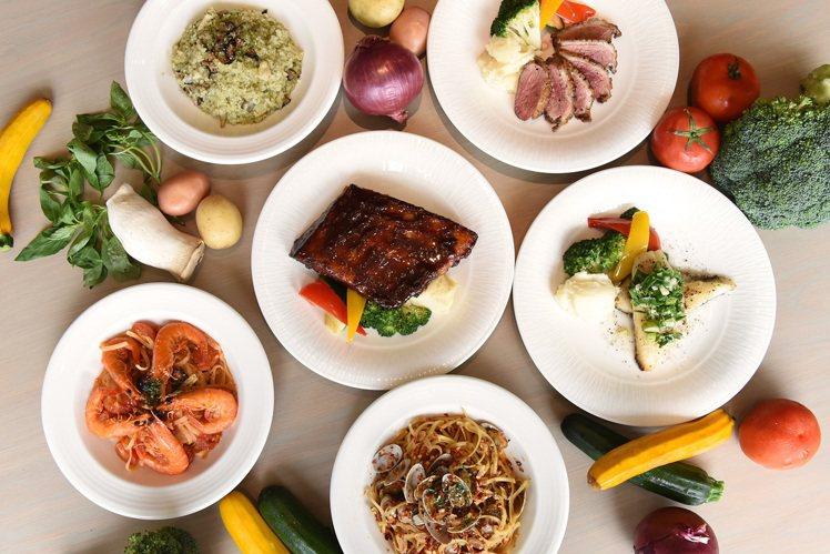 Semi-Buffet的主餐選項豐富多樣。圖/台北新板希爾頓提供