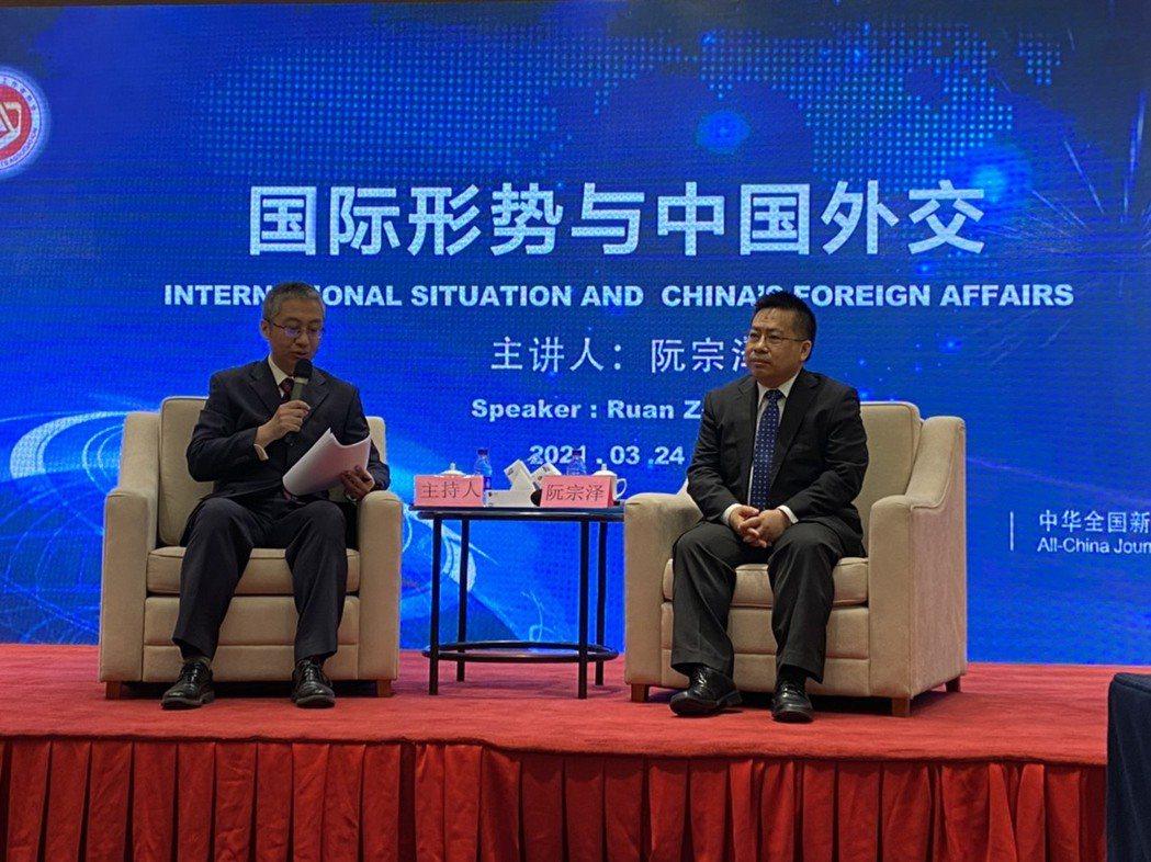 中國記協今舉辦「國際形勢與中國外交」新聞茶座。圖/記者呂佳蓉攝影