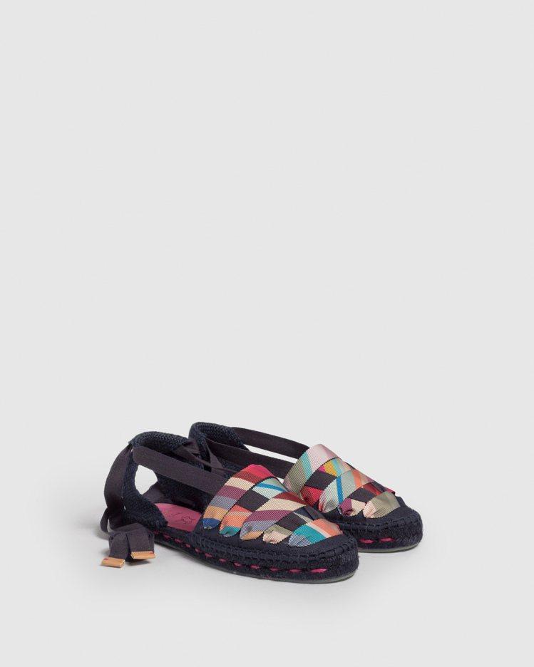 彩條海軍藍Jean平底涼鞋,8,300 (1)