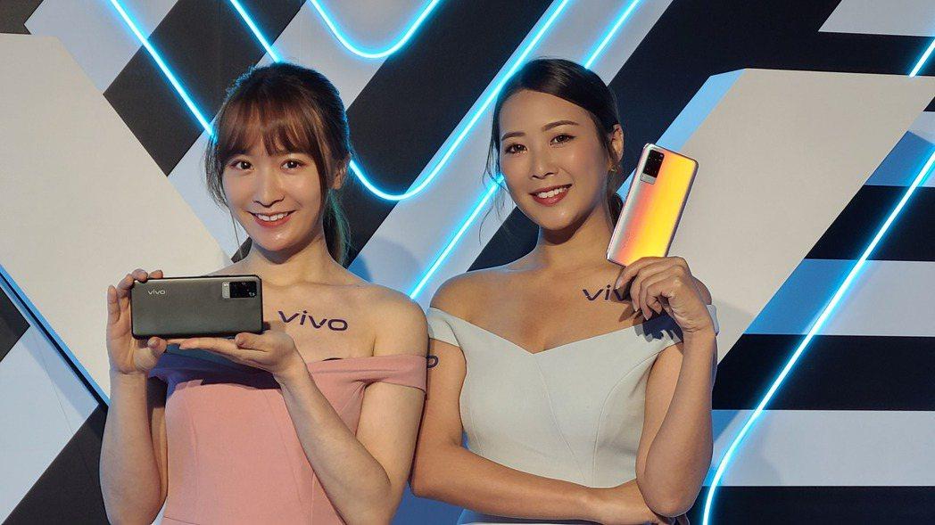 vivo在台推出vivo X60系列。    記者何佩儒/攝影