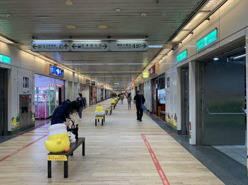 東區地下街因為缺乏整體規畫,人潮持續外流。記者張曼蘋/攝影